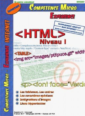 Booklet's front page - HTML niveau 1