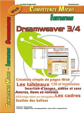 Booklet's front page - Dreamweaver 3/4