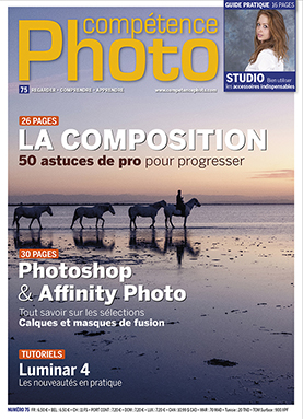 Booklet's front page - Compétence Photo 75 : Composition • Photoshop / Affinity Photo / Luminar